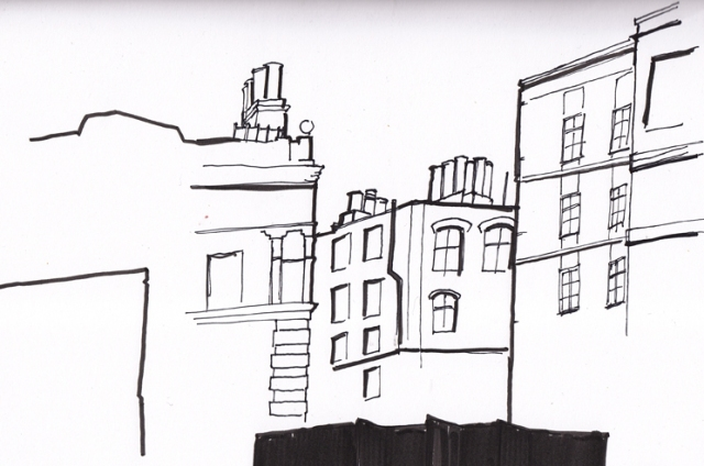 Finn O'Brien Illustration London buildings drawings pen and ink