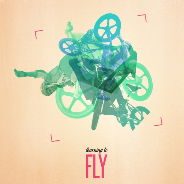 Finn O'Brien learning to fly screen print digital retro bmx